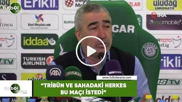 """Samet Aybaba: """"Tribün ve sahadaki herkes bu maçı istedi"""""""