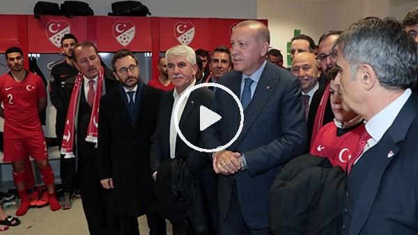 'Cumhurbaşkanı Erdoğan, A Milli Takım'ı kutladı