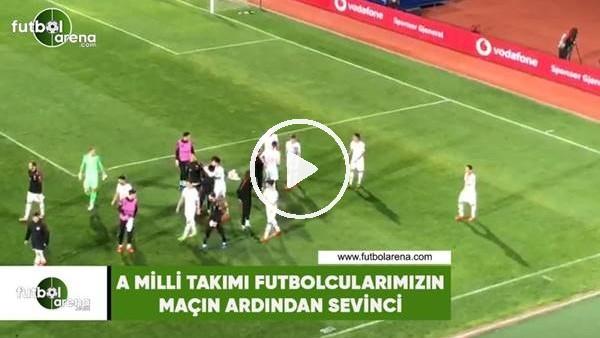 'A Milli Takımı futbolcularımızın maçın ardından sevinci