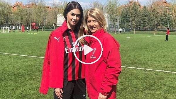 'Boateng'in Melissa Satta, Milan antrenmanında