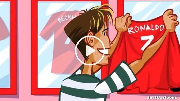 Cristiano Ronaldo'nun kariyer başlangıcı animasyon film oldu