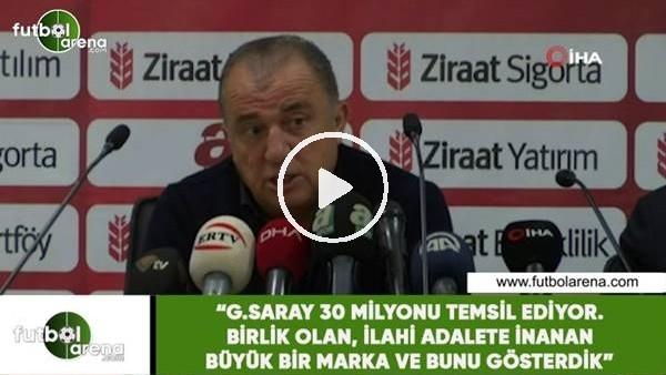 """'Fatih Terim: """"Galatasaray 30 Milyonu temsil ediyor büyük bir marka ve  bunu gösterdik"""""""