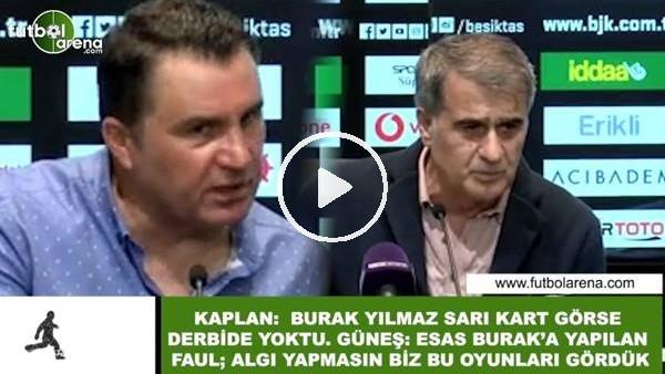 """Şenol Güneş ile Mustafa Kaplan arasında """"sarı kart"""" polemiği"""