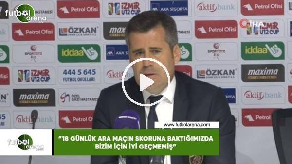 """'Hüseyin Eroğlu: """"18 günlük ara maçın skoruna baktığımızda bizim için iyi geçmemiş"""""""
