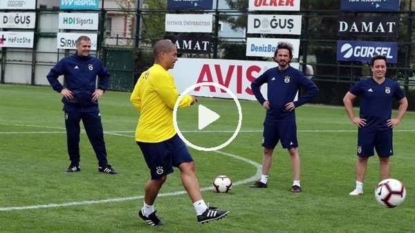 'Fenerbahçeli eski futbolcular maç yaptı