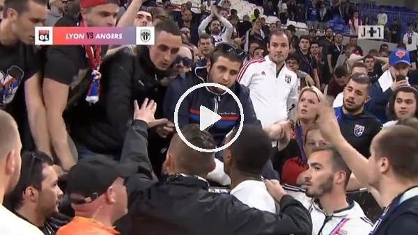 Marcelo ile Lyon taraftarı arasında tartışma