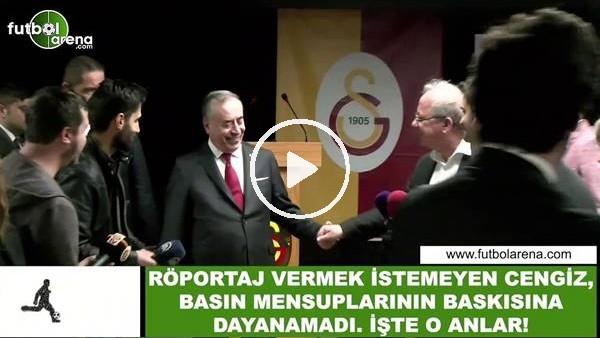 'Röportaj vermek istemeyen Mustafa Cengiz, basın mensuplarının baskısına dayanamadı