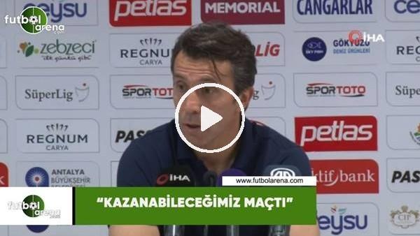 """'Bülent Korkmaz: """"Kazanabileceğimiz maçtı"""""""