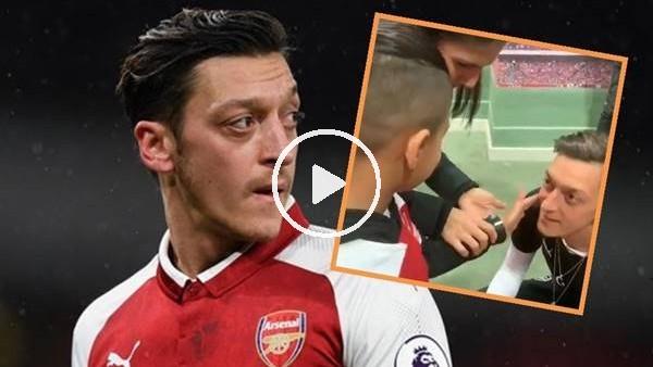 'Görme engelli çocuğun Mesut Özil hayali gerçek oldu...