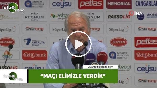 """Mustafa Denizli: """"Maçı elimizle verdik"""""""