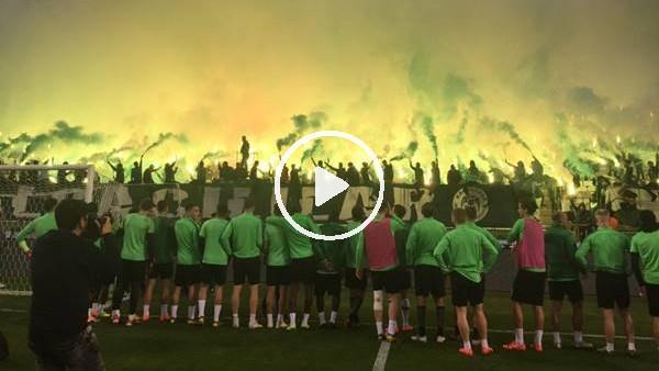 'Konyaspor taraftarından futbolculara muhteşem destek
