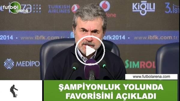 'Aykut Kocaman şampiyonluk yolunda favorisini açıkladı