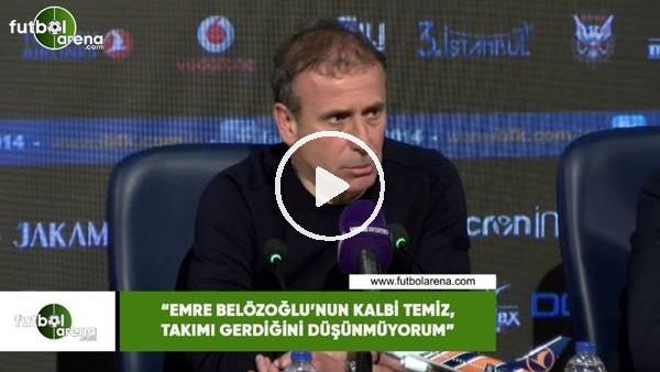 """Abdullah Avcı: """"Emre Belözoğlu'nun kalbitemiz, takımı gerdiğini düşünmüyorum"""""""