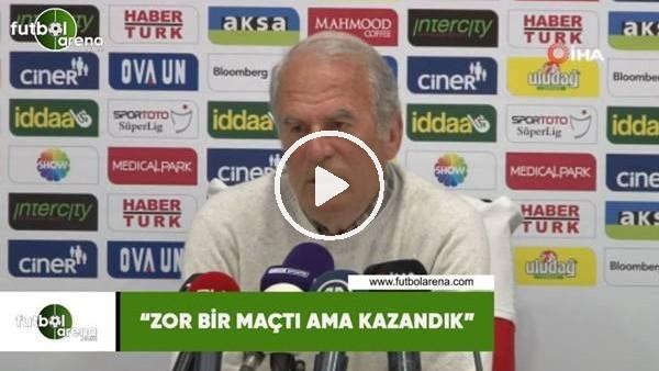 """'Mustafa Denizli: """"Zor bir maçtı ama kazandık"""""""