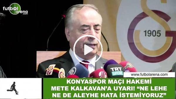 Mustafa Cengiz'den Mete Kalkavan'a uyarı