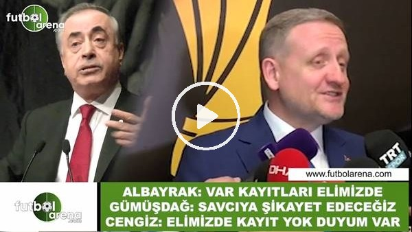 """'Göksel Gümüşdağ, Abdurrahim Albayrak ve Mustafa Cengiz arasında """"VAR"""" polemiği"""