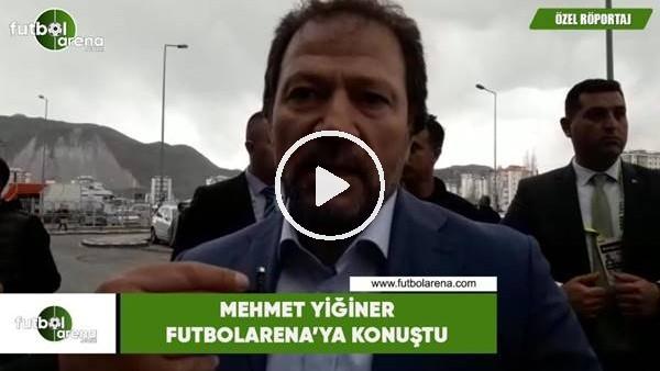 'Mehmet Yiğiner, Kayserispor maçı öncesi FutbolArena'ya konuştu