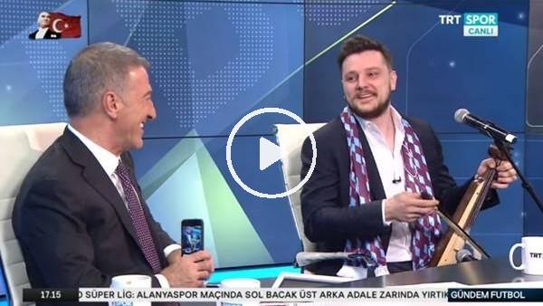 'Ahmet Ağaoğlu ve Ekin Uzunlar canlı yayında şarkı söyledi