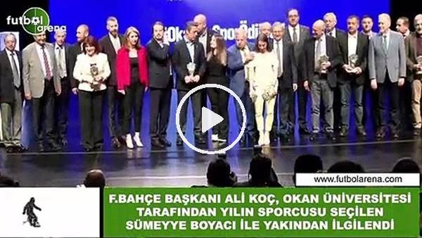 'Ali Koç, Okan Üniversitesi Ödül Töreninde Sümeyye Boyacı ile yakından ilgilendi