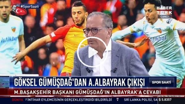"""'Fatih Altaylı'dan Göksel Gümüşdağ'a: """"Haddini bilerek konuşacak"""""""