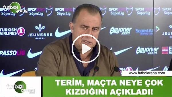'Fatih Terim, maçta neye çok kızdığını açıkladı