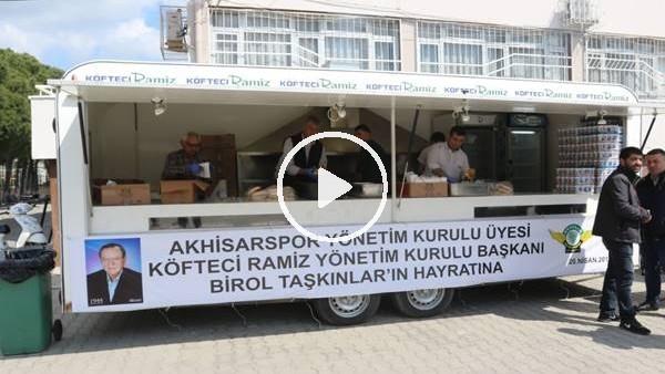 Akhisarspor taraftarından Antalyalı taraftarlara pideli köfte ikramı