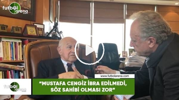 """'Duygun Yarsuvat: """"Mustafa Cengiz ibra edilmedi, söz sahibi olması zor"""""""