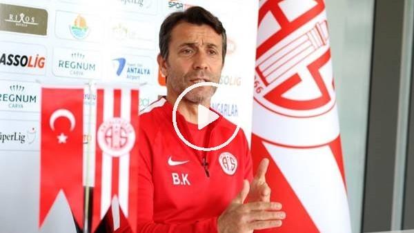 """'Bülent Korkmaz: """"Antalyaspor benimle uzun vadeli çalışmak istiyor, endişem yok"""""""