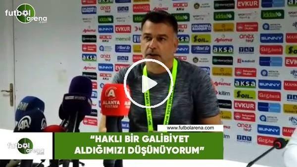 """'Murat Şahin: """"Haklı bir galibiyet aldığımızı düşünüyorum"""""""