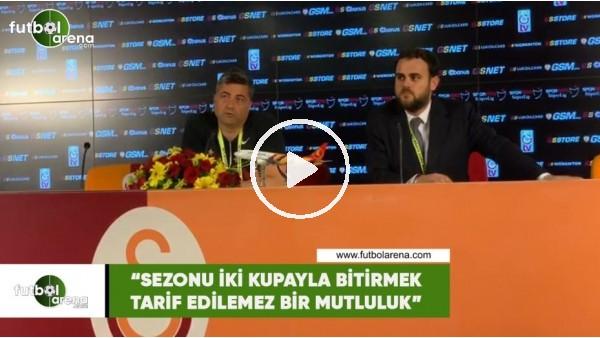"""'Levent Şahin: """"Sezonu 2 kupayla bitirmek tarif edilemez bir mutluluk"""""""