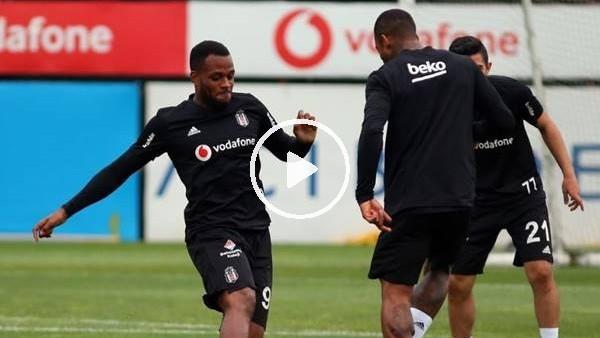 Beşiktaşlı futbolculardan antrenmanda şut çalışması