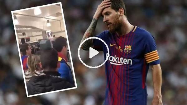 'Bir grup Barcelona taraftarı Messi'yi protesto etti
