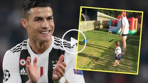 Cristaino Ronaldo ve çocuklarının keyifli anları