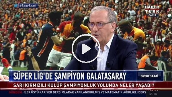 """'Fatih Altaylı: """"Rakiplere göre Türkiye'de kazanılan şampiyonluklar damia şaibelidir"""""""