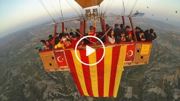 'Galatasaray'ın şampiyonluğunu gökyüzünde kutladılar