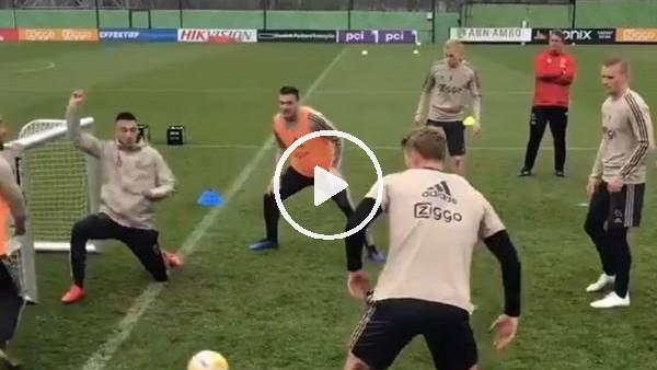 'Ajax antrenmanından kısa bir kesit
