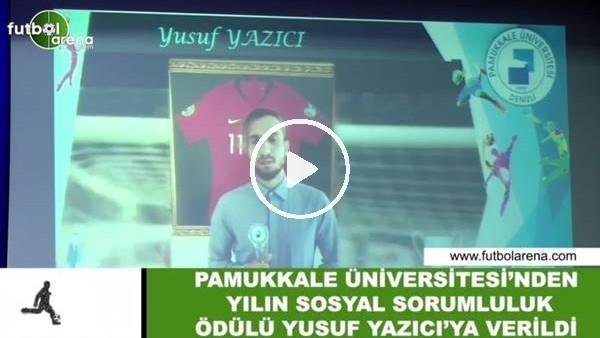 Pamukkale Üniversitesi, Yılın Sosyal Sorumluluk Ödülünü Yusuf Yazıcı'ya verdi