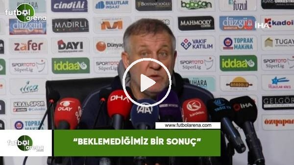 """'Mesut Bakkal: """"Beklemediğimiz bir sonuç"""""""