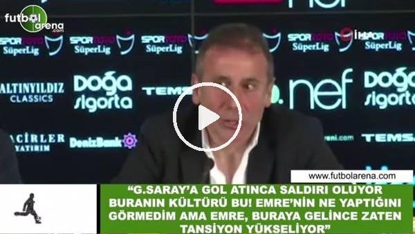 """'Abdullah Avcı: """"Galatasara'a gol atınca saldırı oluyor buranın kültürü bu"""""""