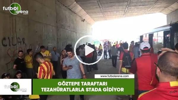 'Göztepe taraftarı tezahüratlarla stada gidiyor