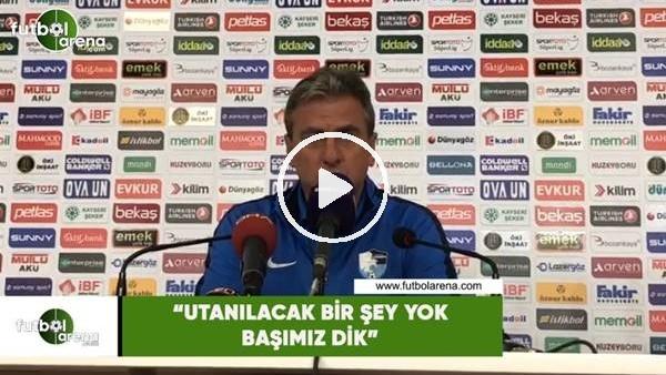 """'Hamza Hamzaoğlu: """"Utanılacak bir şey yok başımız dik"""""""