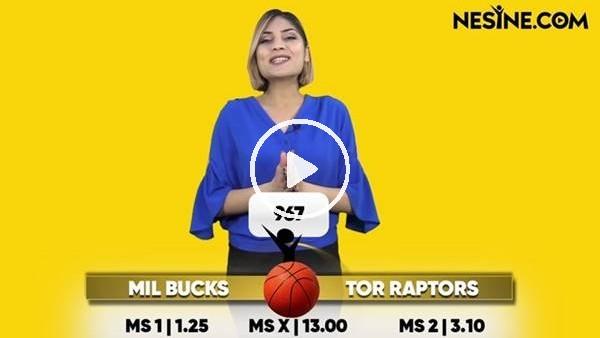 Milwaukee Buckss - Toronto Raptors TEK MAÇ Nesine'de!