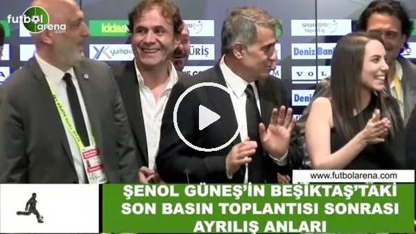 'Şenol Güneş'in Beşiktaş'taki son basın toplantısından ayrılış anları