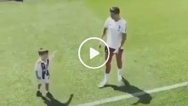 Pjanic'in minik oğlundan Ronaldo sevinci