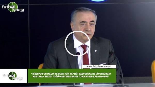 """'Mustafa Cengiz'den Çaykur Rizespor'un başvuru sorusuna! """"Gülümseyerek basın toplantısını kapatıyoruz"""""""