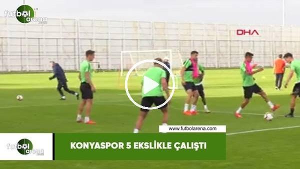'Konyaspor 5 eksikle çalıştı