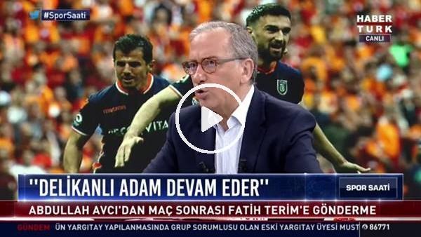 """'Fatih Altaylı'dan Abdullah Avcı'ya: """"Senin futbolcuların Rize'de adam dövdü"""""""