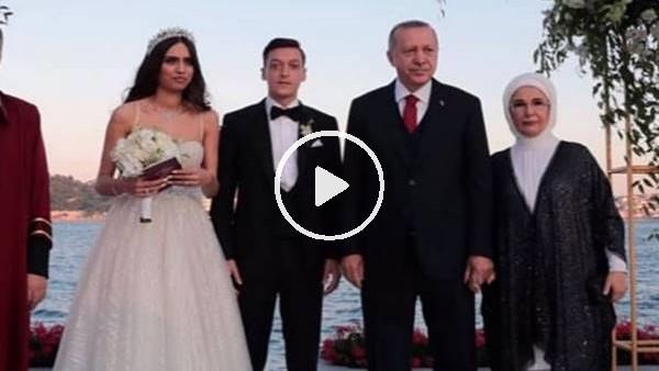 'Mesut Özil - Amine Gülşe, Cumhurbaşkanı Erdoğan'ın şahitliğinde evlendi