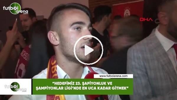 """'Yunus Akgün: """"Hedefmiz 23. şampiyonluk ve Şampiyonlar Ligi'nde en uca kadar gitmek"""""""