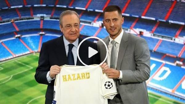 'Real Madrid, Eden Hazard transfer için imza töreni düzenledi